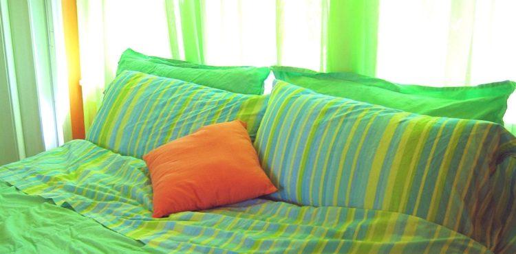 Zelená barva v interiéru